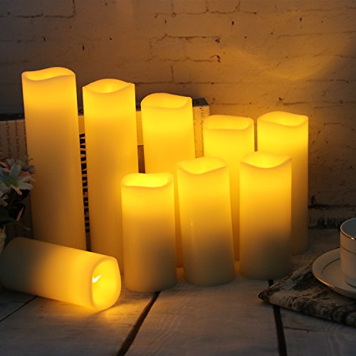 """Flameless Candles Led Candles Set of 9(H 4"""" 5"""