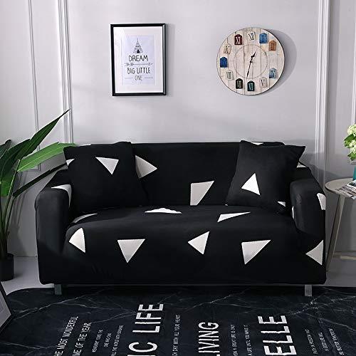 Funda de sofá elástica geométrica Funda de sofá elástica con Todo Incluido para sofá de Diferentes Formas Funda de sofá Estilo L A18 3 plazas