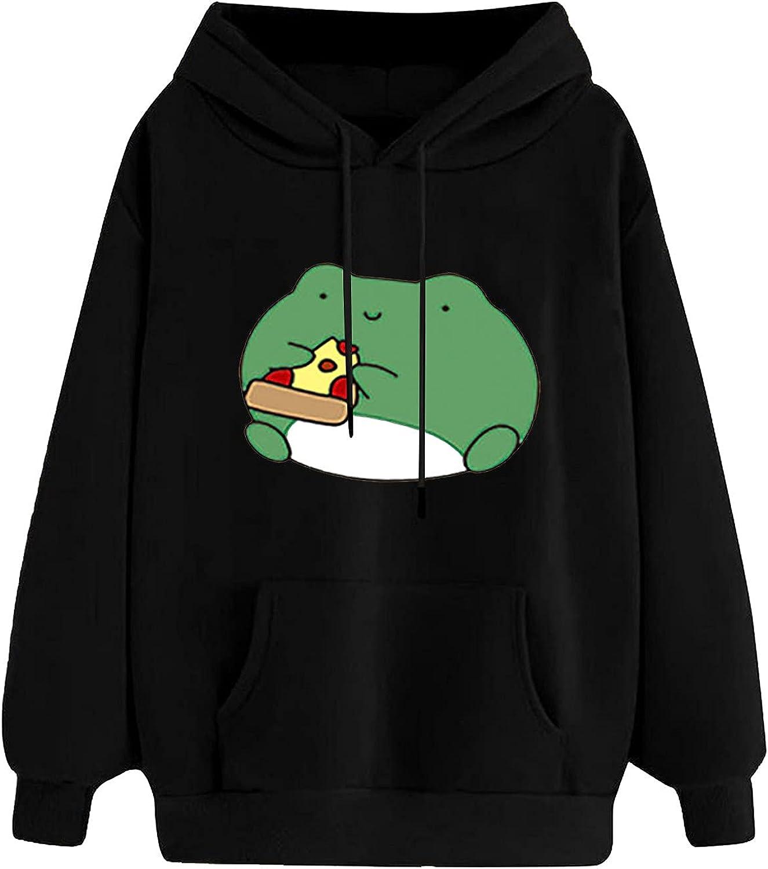 Women's Casual Cute Special sale item Cartoon Animal Sleeve Long Pullover Print Ho Super-cheap