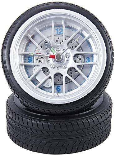 Reloj despertador creativo de la moda de los ornamentos de la sincronización de la rueda de plástico alimentado por pilas del neumático en forma