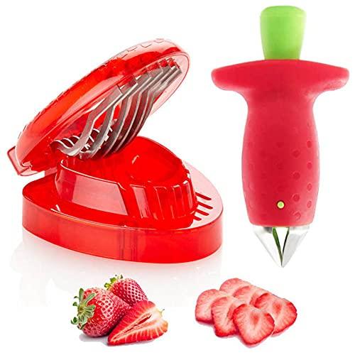 Strawberry Huller and Fruit Slicer Set