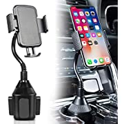 Amoner Cup Holder Phone Mount, Upgraded Car Phone Mount Universal Adjustable Gooseneck Cup Holder Cradle Car Mount for Cell Phone iPhone 11 Pro/11/ Xs/XS Max/X/8/7 Plus/Galaxy S10 S9 S8