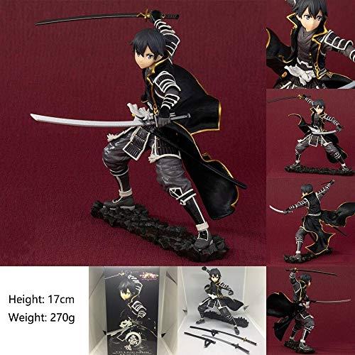 XUEKUN Sword Art Online-Kirigaya Kazuto 17cm Figura De Acción Warrior-4th Generation Kirito Estatua Animado Caracteres Decoración Modelo Infantil Muñeca Juguete Amantes Regalo Kirigaya Kazuto