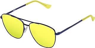 Hawkers Men's X Steve Aoki- NEON LAX ACID HNLAX03 Rectangular Sunglasses, Yellow, 12 mm