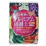 「2個セット」花と野菜のプレミアム培養土 40L×2個