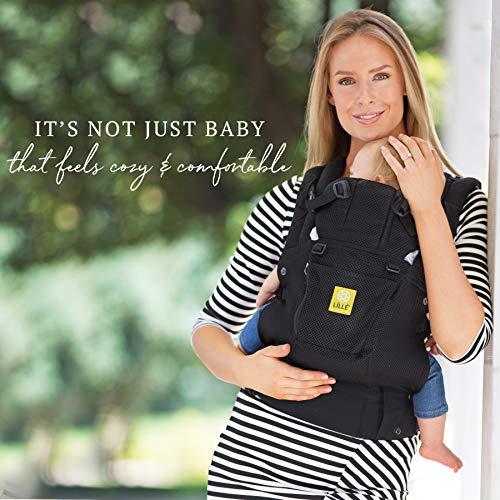 抱っこ紐 LÍLLÉbaby リルベビー COMPLETE AIRFLOW 3D MESH エアフロー3Dメッシュ 6-in-1 6WAYベビーキャリア 新生児&幼児用 エルゴノミックマルチポジションベビーキャリア -ブラック メーカー正規品