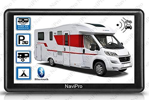 GPS Camping Car 7 Pouces NaviPro, Europe + Maroc A Vie, Aires DE Camping en Temps réel