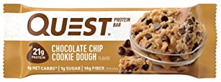 Quest Nutrition Protein Bar, Chocolate Chip Cookie Dough, 2.12 oz,12 Count