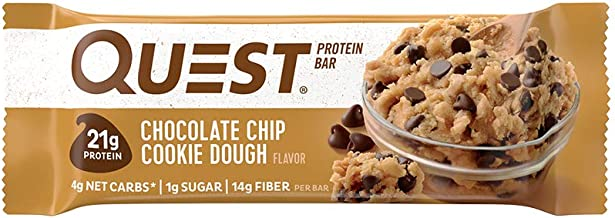Quest Nutrition Chocolate Chip Cookie Dough - High Protein, Low Carb, Gluten Free, Keto Friendly, 2.12 Oz , 4 Count ( Pack...