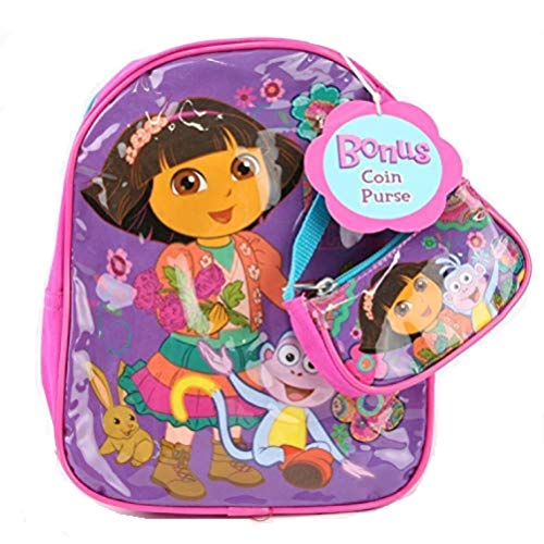 Dora Mini Backpack 10' with Coin Purse - Purple
