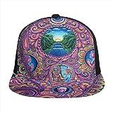 FONDSILVER - Gorra de béisbol con diseño de mandala indio psicodélico y calavera de mala hierba...