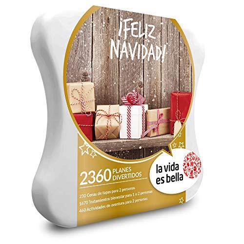Smartbox La Vida es Bella - Caja Regalo - ¡Feliz Navidad! - 2360 Planes como tratamientos de Bienestar, cenas de Tapas o Actividades de Aventura