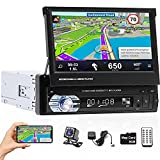 Hikity Single Din Car Stereo 7 Inch Flip Out Touch...