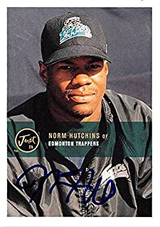 Norm Hutchins autographed baseball card (Edmonton Trappers) 2000 Just Minor league #140