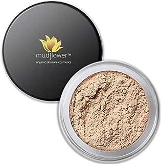 Mudflower Cosmetics Organic Powder Makeup Foundation, Light Warm, 1.0 ounce