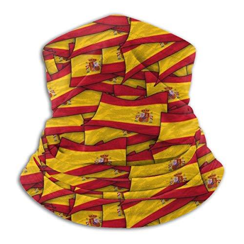 GWrix Cubierta Facial,Pañuelo para La Cabeza,Diademas para Exteriores,Bandera De España Wave Collage Tubo De Bandanas Sin Costuras,Polaina para Cuello,Calentador De Cuello De Invierno