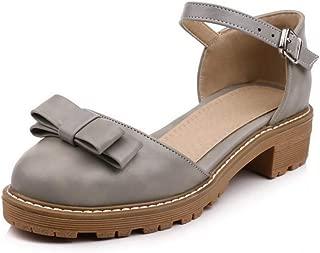 BalaMasa Womens ASL06887 Pu Platform Heels