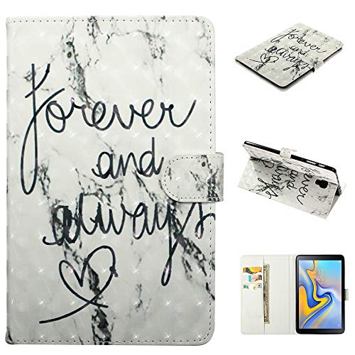 KimsCase for Samsung Galaxy Tab A 10.5 Inch T590 Case Leather Magnetic Notebook Design Protective Pretty Cute 3D Glitter Bling Kawaii Dustproof Shockproof Bumper Funny Cover - Love