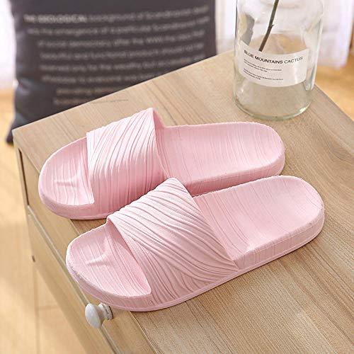 LNLJ Acupressure - Zapatillas de masaje unisex, de plástico, antideslizantes, suela suave, color rosa A_44-45, sandalias de baño