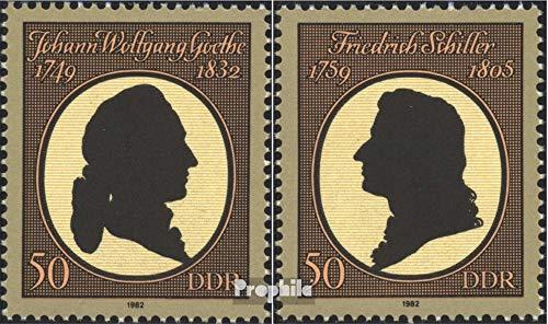 Prophila Collection DDR 2681-2682 (kompl.Ausg.) 1982 150.Todestag Goethe,225.Geburtstag (Briefmarken für...