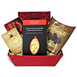 Christmas, Holiday, Birthday, Thank-You Gift Basket with Truffles, Biscotti, Chocolate and More
