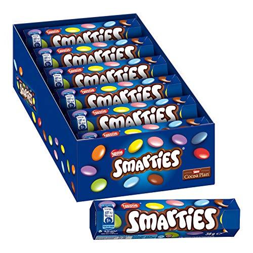 Nestlé Smarties Confetti Ripieni di Cioccolato al Latte - 24 Tubi da 38 g
