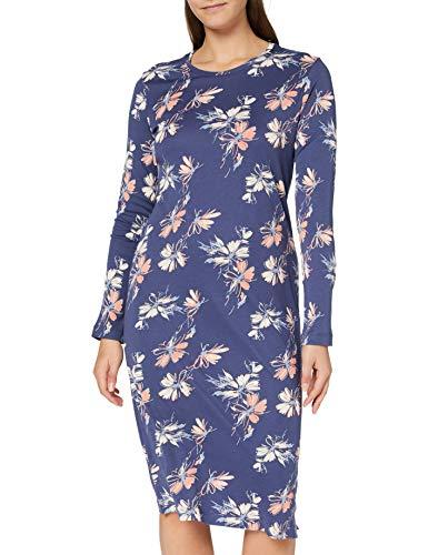 Schiesser Damen 1/1 Arm, 110cm Nachthemd, blau, 40