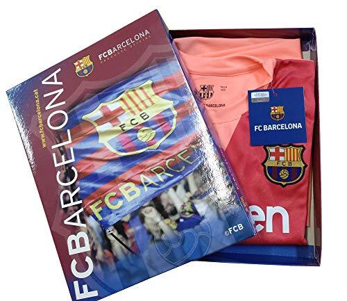 Kit Camiseta y Pantalón Tercera Equipación 2018-2019 FC. Barcelona - Réplica Oficial Licenciado - Dorsal Liso (8 años)