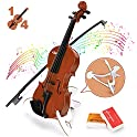 BAOLI Kids Simulation Violin Toys w/Free Rosin, Chin Rest, Strings
