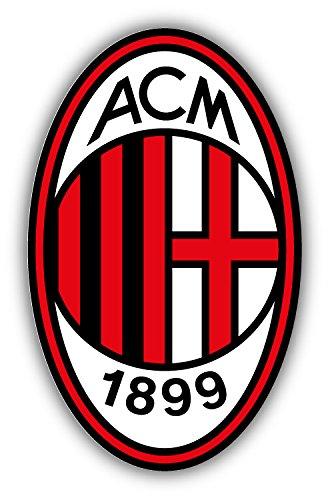 qualityprint A.C. Milan FC Italy Europe Soccer Sport Football Decor Vinyl Sticker 14'' X 9''