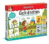 Clementoni - 16235 - Sapientino - Giochi di Lettura, gioco educativo 5 anni, tessere illustrate e tessere a incastro, gioco per imparare a leggere - Made in Italy