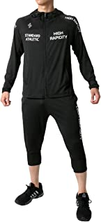 [ソレイルドール] ランニングウェア ジャージ メンズ 上下セット パーカー ショートパンツ 7分丈 吸汗速乾