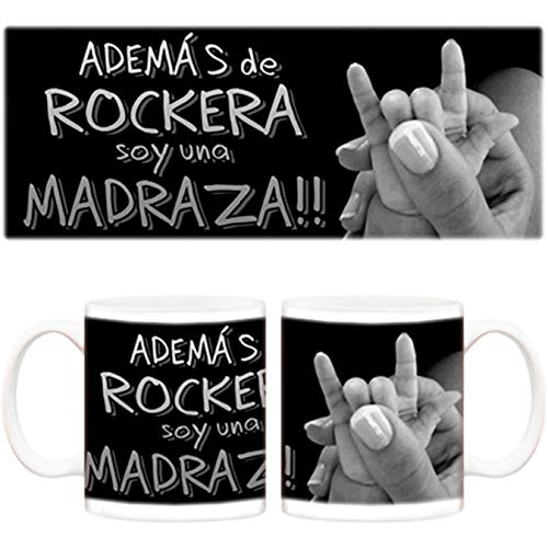Diver Tazas Taza Además de rockera Soy una madraza - Cerámica