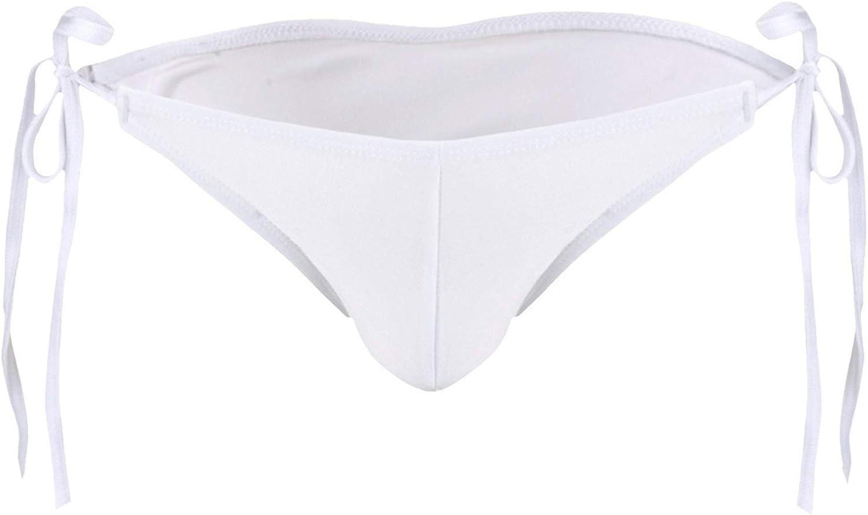 DINGGUANGHE-CUP Men's Thongs, Briefs Mens Swimsuit Underwear Swimwear Bikini Swim Shorts Briefs Thongs Panties (Color : White, Size : One Size)