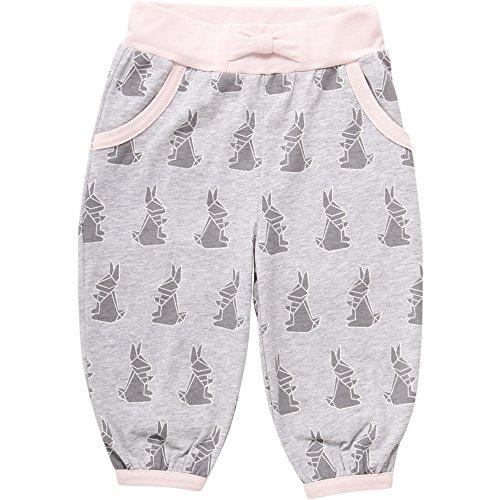 Fred'S World By Green Cotton Rabbit Pants Pantalon, Gris (Pale Greymarl 207670000), 98 cm Bébé Fille