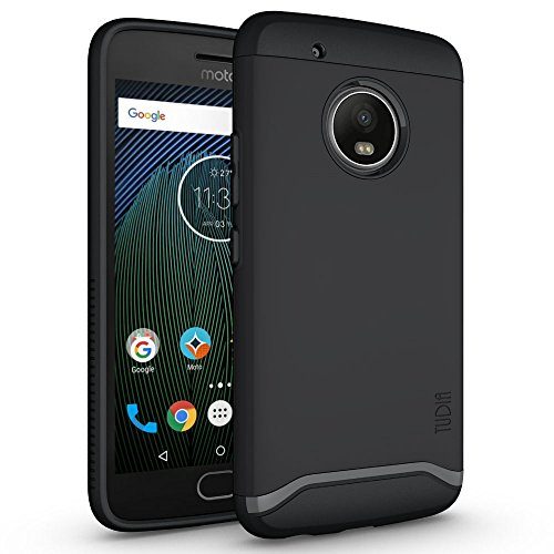 TUDIA Merge Designed for Motorola Moto G5 Plus Case with Dual Layer Protection (Matte Black)