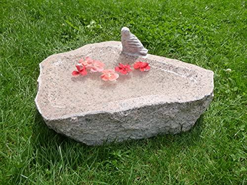 Vogeltränke aus Granit Nr. 30 | Vogelbad aus Naturstein | Unikat | Handarbeit !