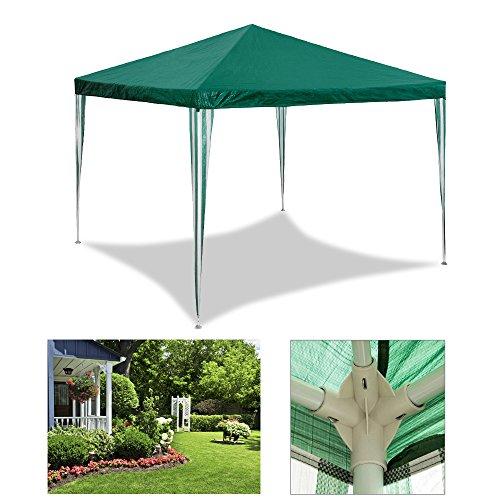 HG Gazebo Tenda da giardino 3 x 4 m, da giardino, tenda a cupola, doppia parete in polietilene impermeabile con 6 pannelli laterali e 2 ingressi, stabile tendone di alta qualità