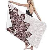 Toalla De Playa, Manta De Playa Extragrande con Mandala con Figura Floral Arabesque para Adultos Y Niños, Súper Suave Y Absorbente Rápido