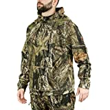 Mossy Oak Camo Hoodie for Men, Hunting Clothes for Men, Break-Up Country, Large