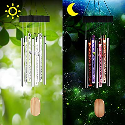 GoLine Solar Wind Chimes, Solar Decoration Lights Outdoor with Color Changing, Garden Houswarming Gifts for Patio Yard Home Decor.