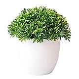 Turbobm Plantas Artificiales Bonsai Plantas de Maceta de árbol pequeño Flores Falsas Adornos en macetas para la decoración del hogar Decoración de jardín del Hotel Bonsai, Plantas Artificiales