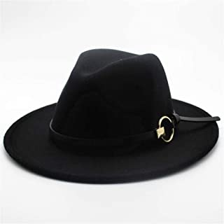 2019 Mens Womens Hats Womens Fashion Wool Polyester Fedora Hat for Women Lady with Leather Belt Pop Jazz Hat Wide Brim Church Hat Casual Wild Fascinator Hat Adjused Size