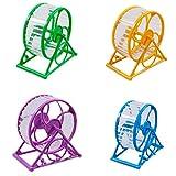 1 PCS Hámster Ruedas de Ejercicio para Ratones Roedores,AZXES,Mascota Hamster Ratones,Juguetes para Pequeño animal Ejercicio,Color Azar