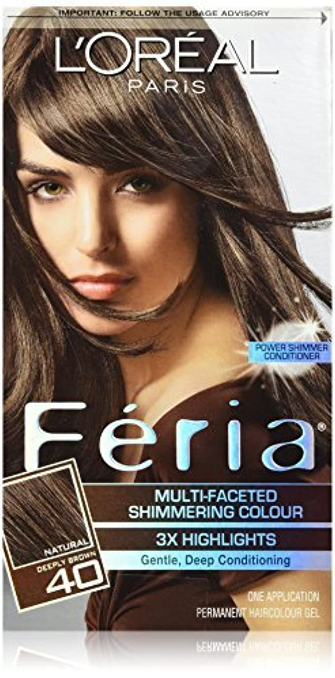保全強調破壊的Feria Espresso,40 Deeply Brown/Espresso by L'Oreal Paris Hair Color [並行輸入品]