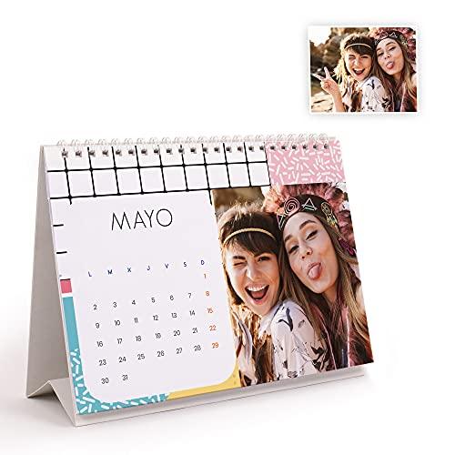 Fotoprix Calendario 2022 sobremesa personalizado con tus fotos   Varios Diseños y Tamaños Disponibles   Calendario estilo Pop   Tamaño: 21 x 15 cm