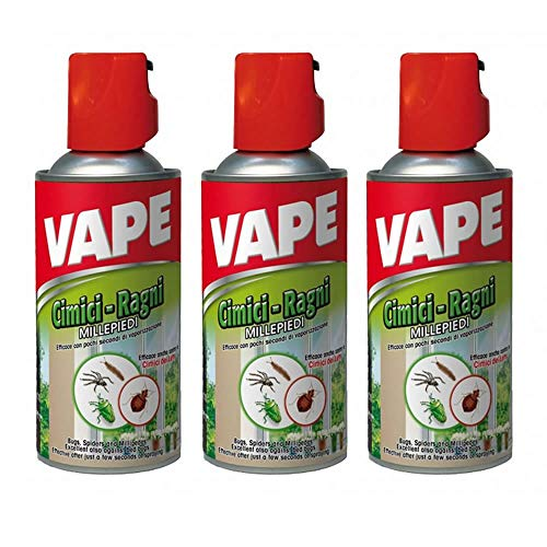 AZIMUTHBRICO Vape Insetticida Spray per cimici Ragni 3 Flaconi da ml 300