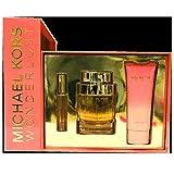 Michael Kors Wonderlust by Michael Kors 3 Piece Gift Set - 3.4 Oz Eau De Parfum Spray, 0.34 Oz Eau De Parfum Rollerball,