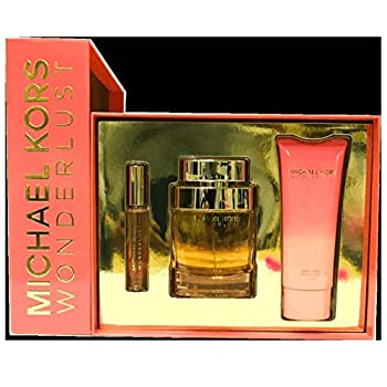 Michael Kors Wonderlust by Michael Kors 3 Piece Gift Set - 3.4 Oz Eau De Parfum Spray 0.34 Oz Eau De Parfum Rollerball,