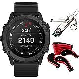 Garmin Approach S62 Black Ceramic Bezel w/White Silicone GPS Golf Watch & More Bundle
